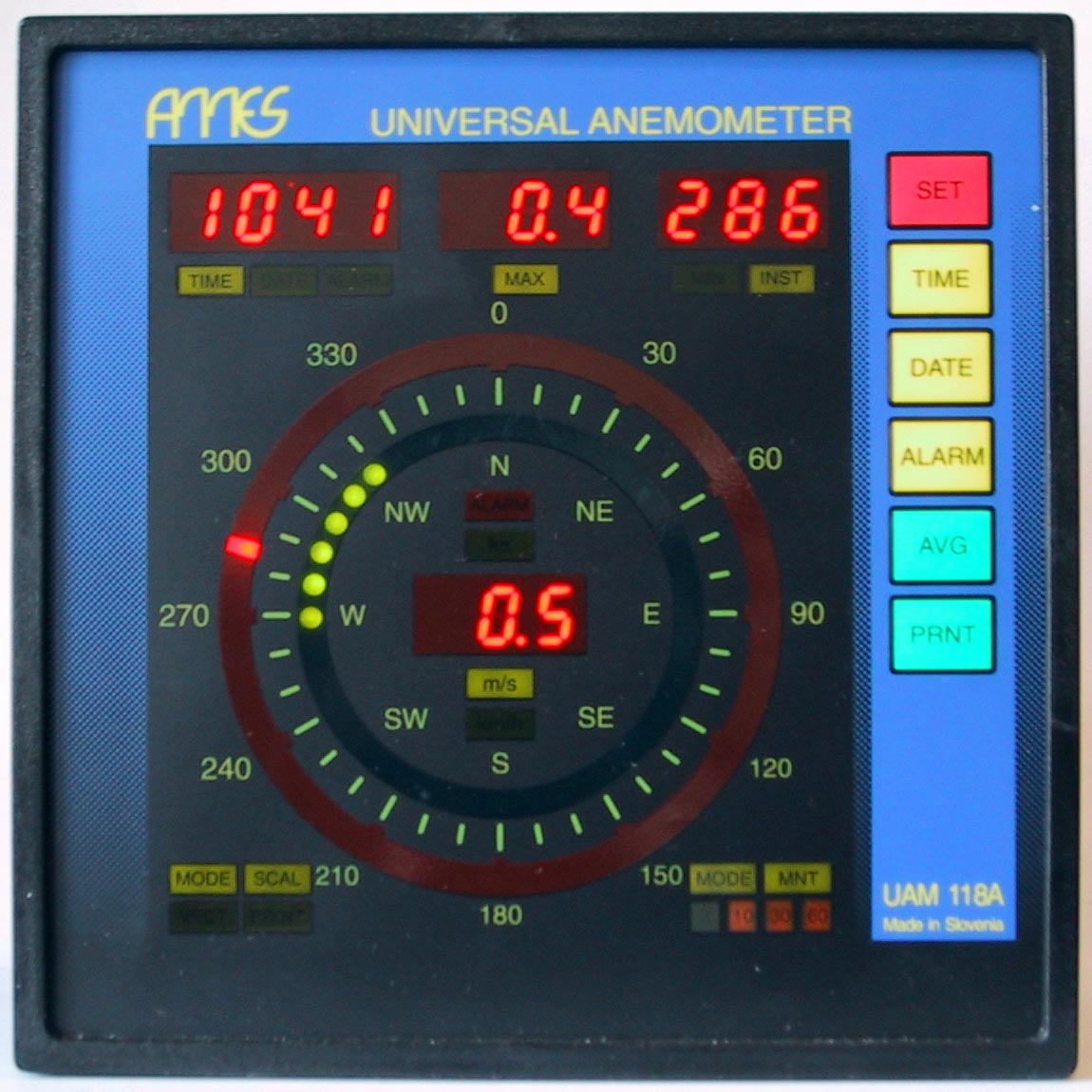 Ames Digital Indicators : Universal anemometer uam a ames d o